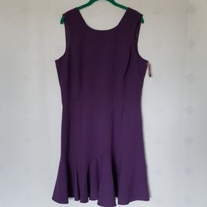 COVINGTON purple fit and flare cocktail dress